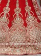 Bridal red colour lehenga choli