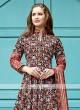 Multi Colour Anarkali Suit With Dupatta