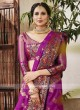 Attractive Magenta Banarasi Silk Saree