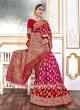 Viscose Red And Rani Saree