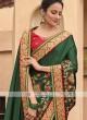Satin Silk Saree In Green