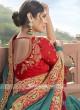 Satin Silk Saree In Peacock Blue