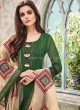 Cotton Silk Churidar Suit in Green