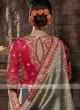 Banarasi Silk Saree In Grey Color