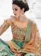 Embroidered Bridal Lehenga Saree