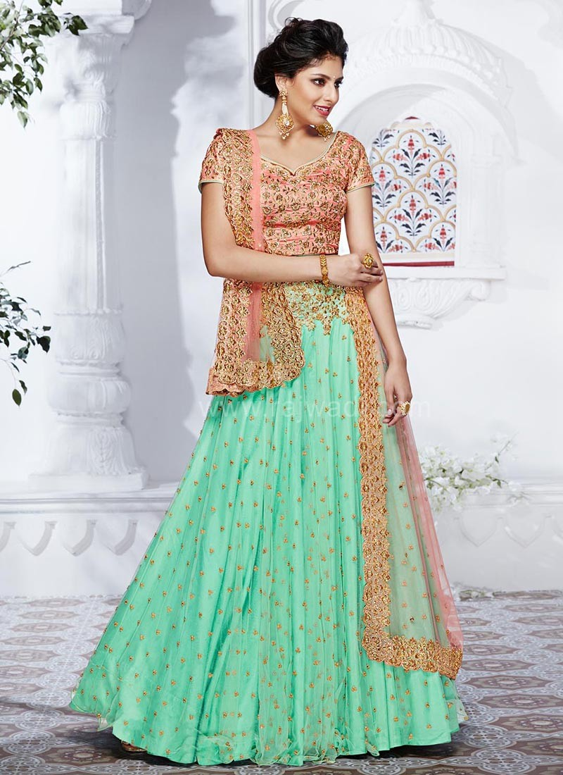 531395b250 Heavy Embroidered Net Lehenga Saree. Hover to zoom · Previous. Roll over  image to zoom or click to enlarge. Next. Product Viewed : 1923