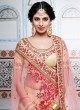 Two Tone Embroidered Lehenga Saree