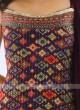Crepe Silk Palazzo Suit In Wine