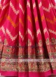 Crimson Color Silk Saree.