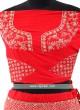 Red Color Silk Lehenga Choli