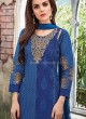 Midnight Blue Straight Churidar Set