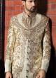 Brocade and Art Silk Fabric Sherwani