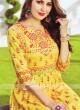 Yellow Soft Cotton Kurti