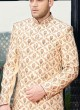 Golden Color Indo Western sherwani