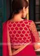 Tamannaah Bhatia In Red Chiffon Silk Saree.