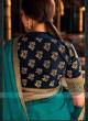 Tamannaah Bhatia In Rama Green Jacquard Silk Saree.