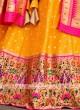 Orange Color Silk Lehenga Choli
