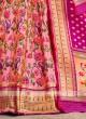 Light Pink And Golden Silk Lehenga Choli