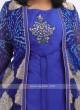 Royal Blue Koti Style Kurti
