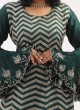 Wedding Wear Bottle Green Crepe Silk Gharara Suit
