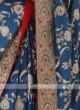 Banarasi Silk Saree In Blue