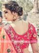 Half N Half Floral Embroidered Sari with Tassels