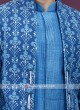 Designer blue colour indo-western