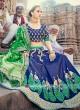 Blue and Green Embellished Lehenga