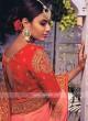 Chiffon Silk Peach Saree