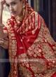 Dola Silk Saree In Red Color