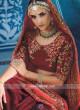 Embroidered Bridal Half N Half Saree