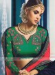 Satin Silk Designer Wedding Saree