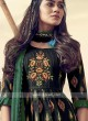 Shagufta Black and Green Cotton Pant Salwar Suit