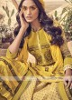 Shagufta Yellow Cotton Churidar Salwar Suit