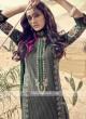 Shagufta Black And Green Cotton Churidar Salwar Suit