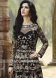Abaya Style Black Unstitched Salwar Kameez
