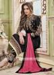 Black Straight Pakistani Suit with Koti