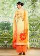 Flower Print Linen Salwar Kameez
