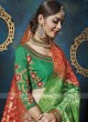 Bridal Red and Green Lehenga Choli