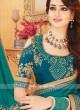 Art Silk Teal Color Saree