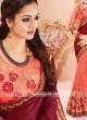 Chiffon Saree with Art Raw Silk Blouse