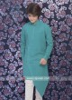 Turquoise Color Pathani Suit