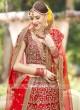 Raw Silk Bridal Red Lehenga Set