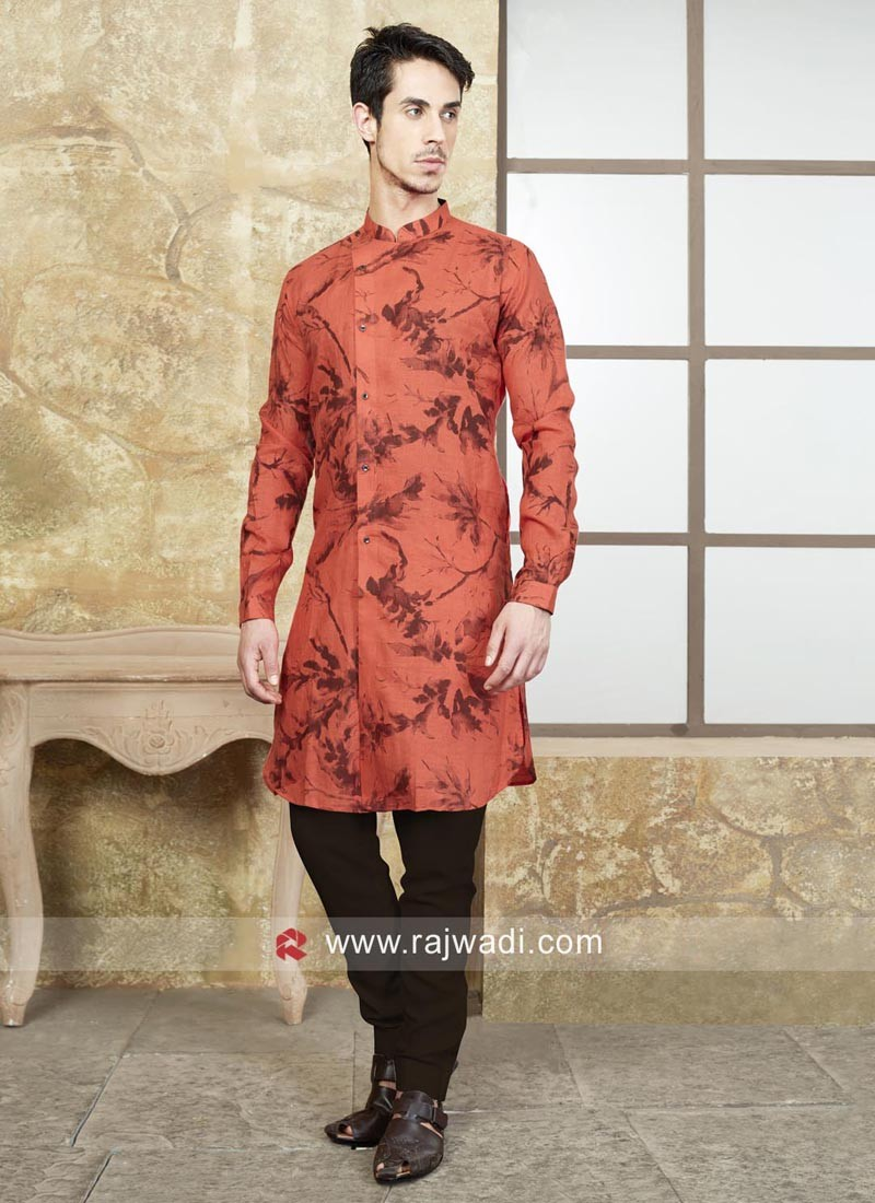 Charming Rust Color Kurta Pajama