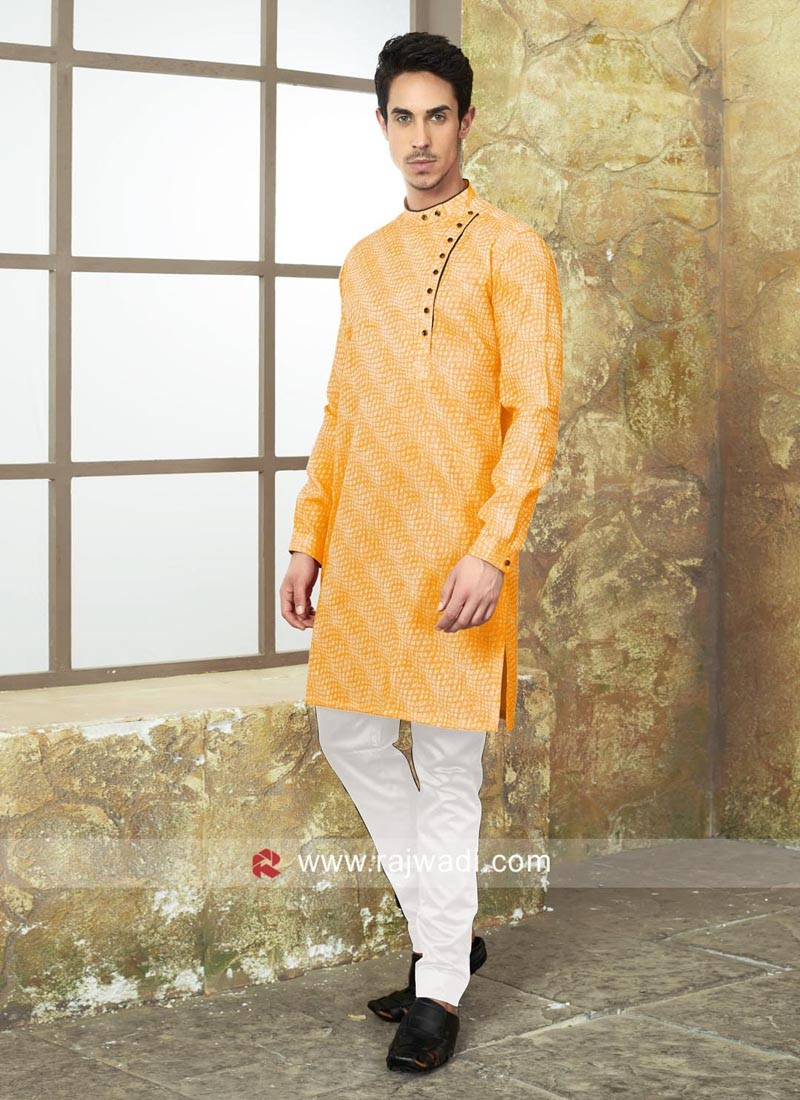Designer Cotton Fabric Kurta Set