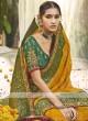 Yellow & Green Color Silk Traditional Saree