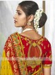 Yellow & Red Traditional Silk Saree