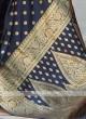 Silk Saree In Dark Blue