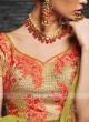 Silk and Brocade Lehenga Choli with Dupatta