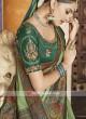 Art Silk Olive Green Saree